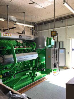 Einbringung eines neuen Jenbacher BHKW Modules
