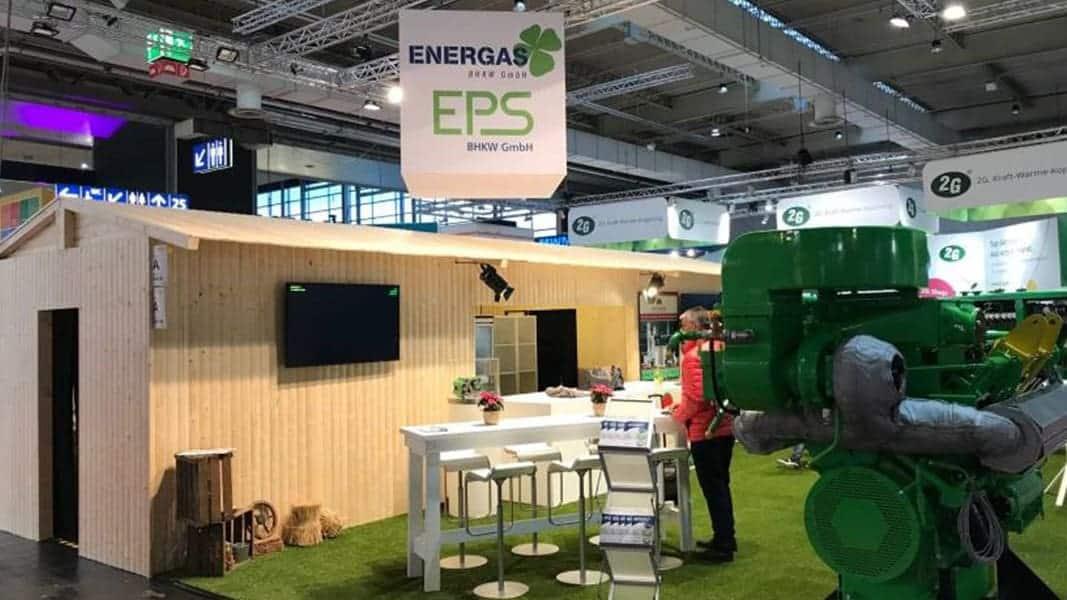 Messestand der Energas BHKW GmbH