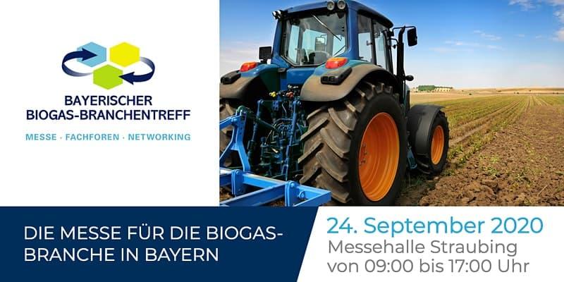Plakat zur Messe für die Biogasbranche in Bayern 2020