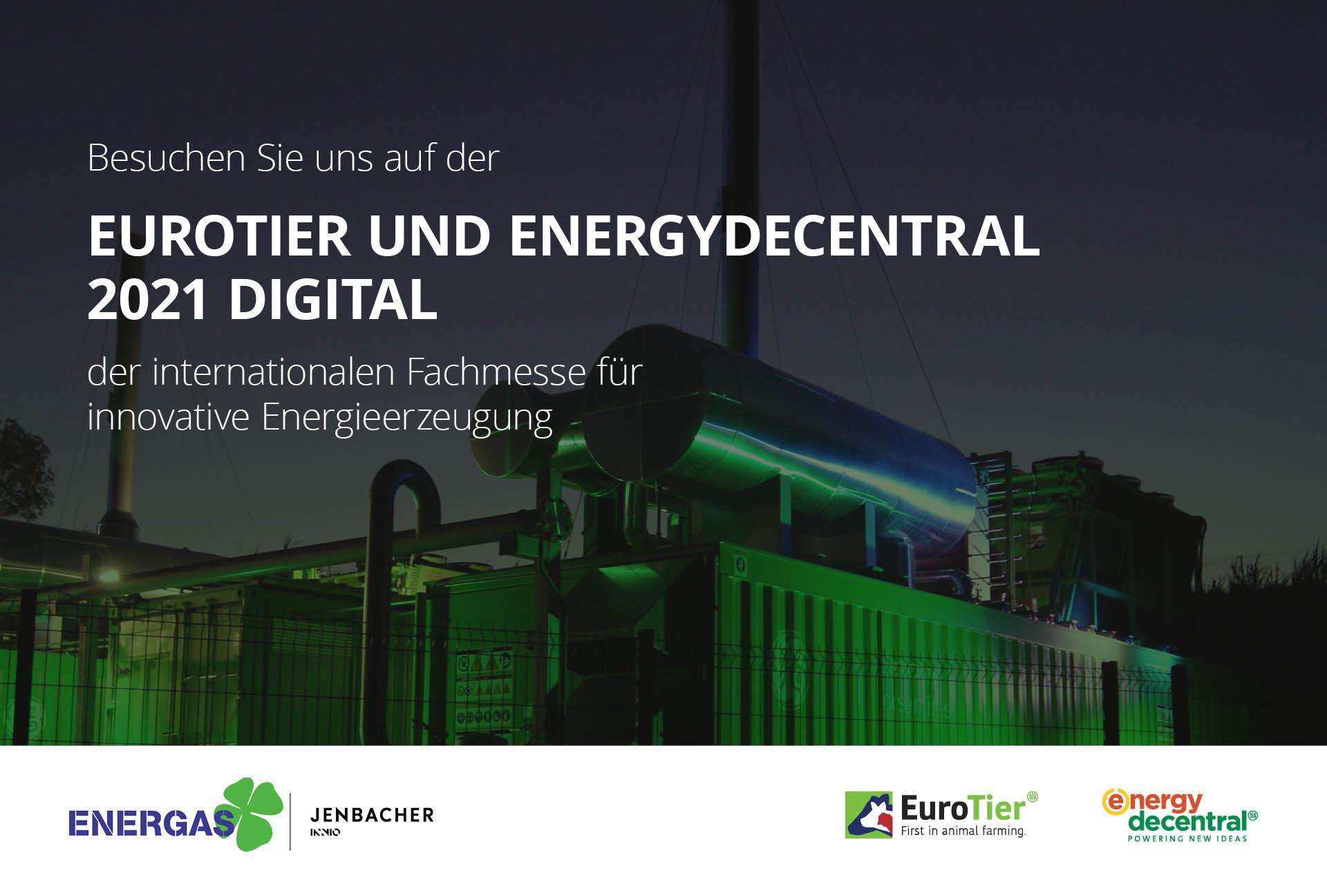 Plakat zu Eurotier und Energydecentral 2021 Digital